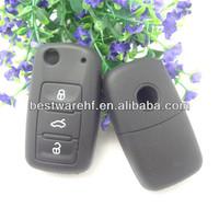 Skoda Passat silicone Folding Flip Key FOB Shell Remote Protective Case
