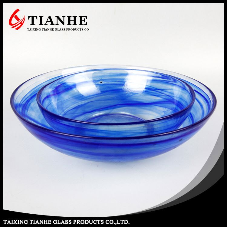Tianhe good quality customizable Round cheese bowl glass