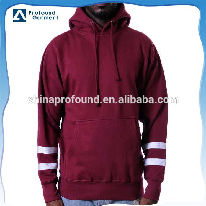 Unbranded wholesale clothing custom plain red mens pullover hoodie with drawstring