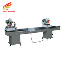 Double head cutting saw simple upvc door and window making machine