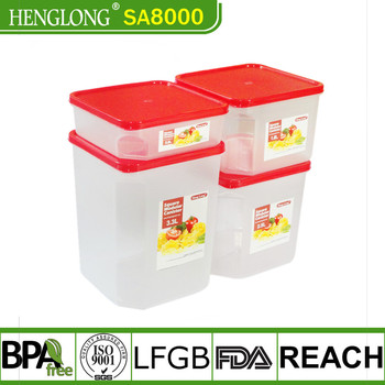 Plastic Coffee Bean Storage Box Chinese Food Container