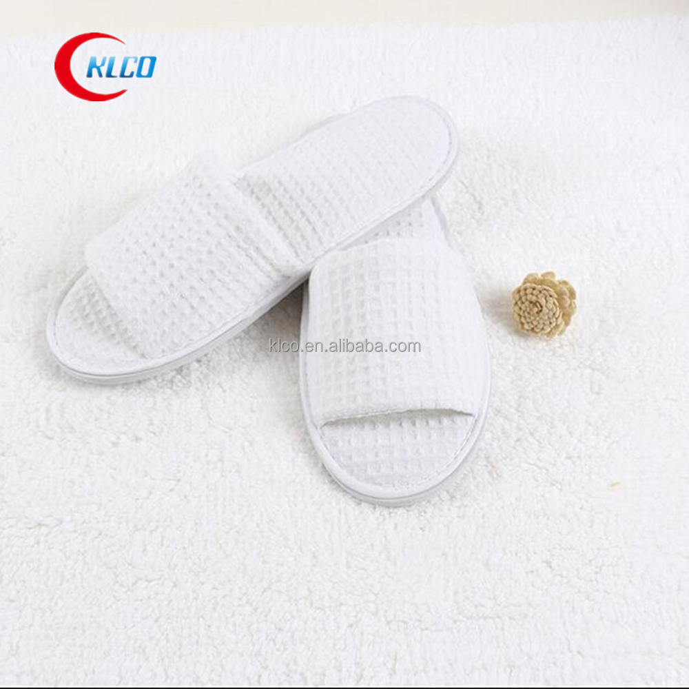 cheap disposable waffle unisex open toe hotel bathroom slippers
