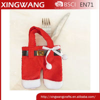 low price tree ornament knife and fork bag christmas cutlery holder 6pcs in a pp bag