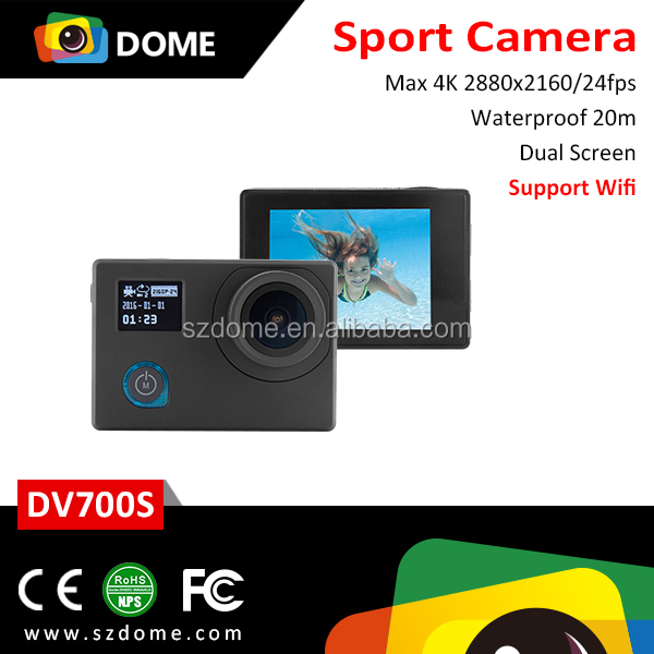 4K Ultra HD Action Camera 170 Degree View Angle Waterproof Wifi Action Camera Sport Camera