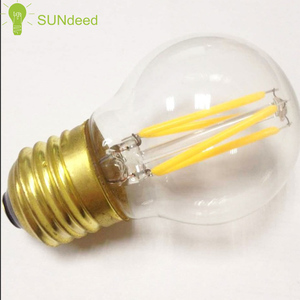 2017 newest led lighting bulb E12 G type G45 110-240v led filament lamps CE/ROHS/ETL/ERP INDOOR/OUTDOOR