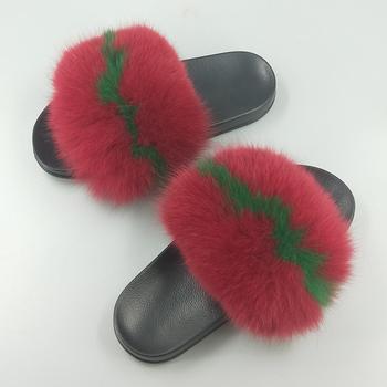 e62d366dcd3d Wholesale Novelty Anti Static Eva Fox Fur Slide Slippers - Buy ...