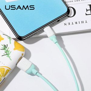 USAMS high quality oem white 180 degree otg metal micro usb charger cable 1m android