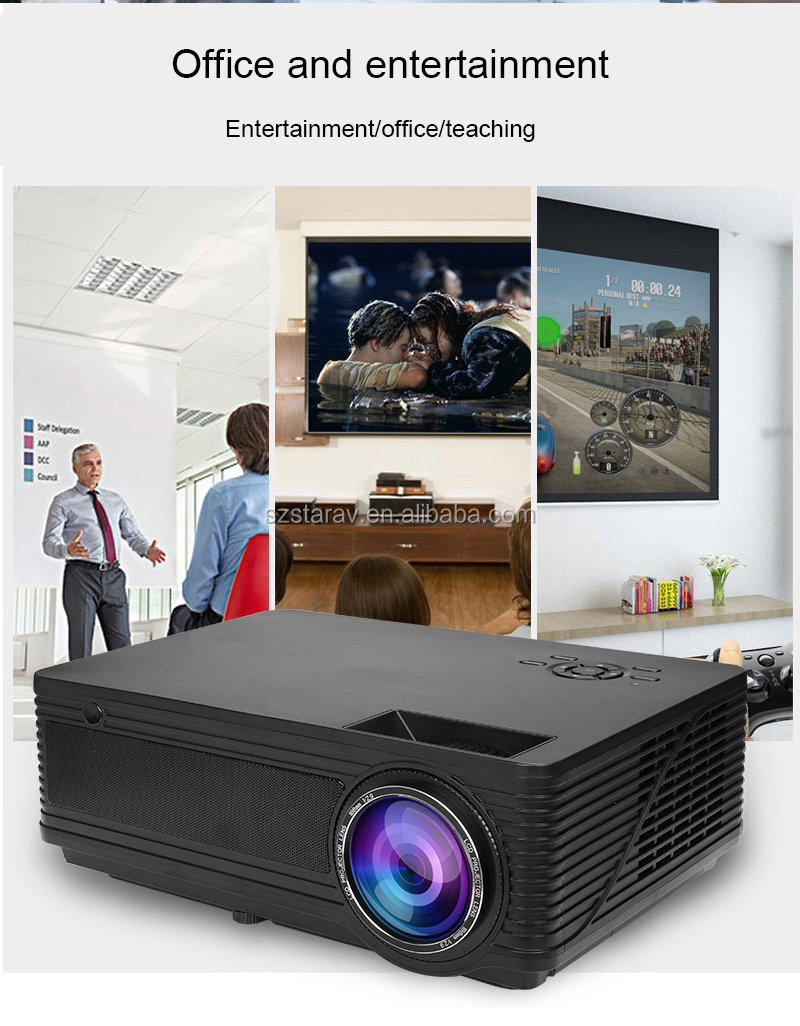 SD300 High Quality  3200Lumens Full HD LED Projector 1080P 5.8'' Non-Android Version Home Theater Projector