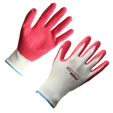 Non disposable red latex gloves