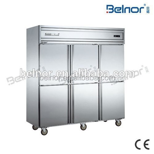 KCD1.6L6W/ 6 doors Upright Commercial Refrigerator/freezer