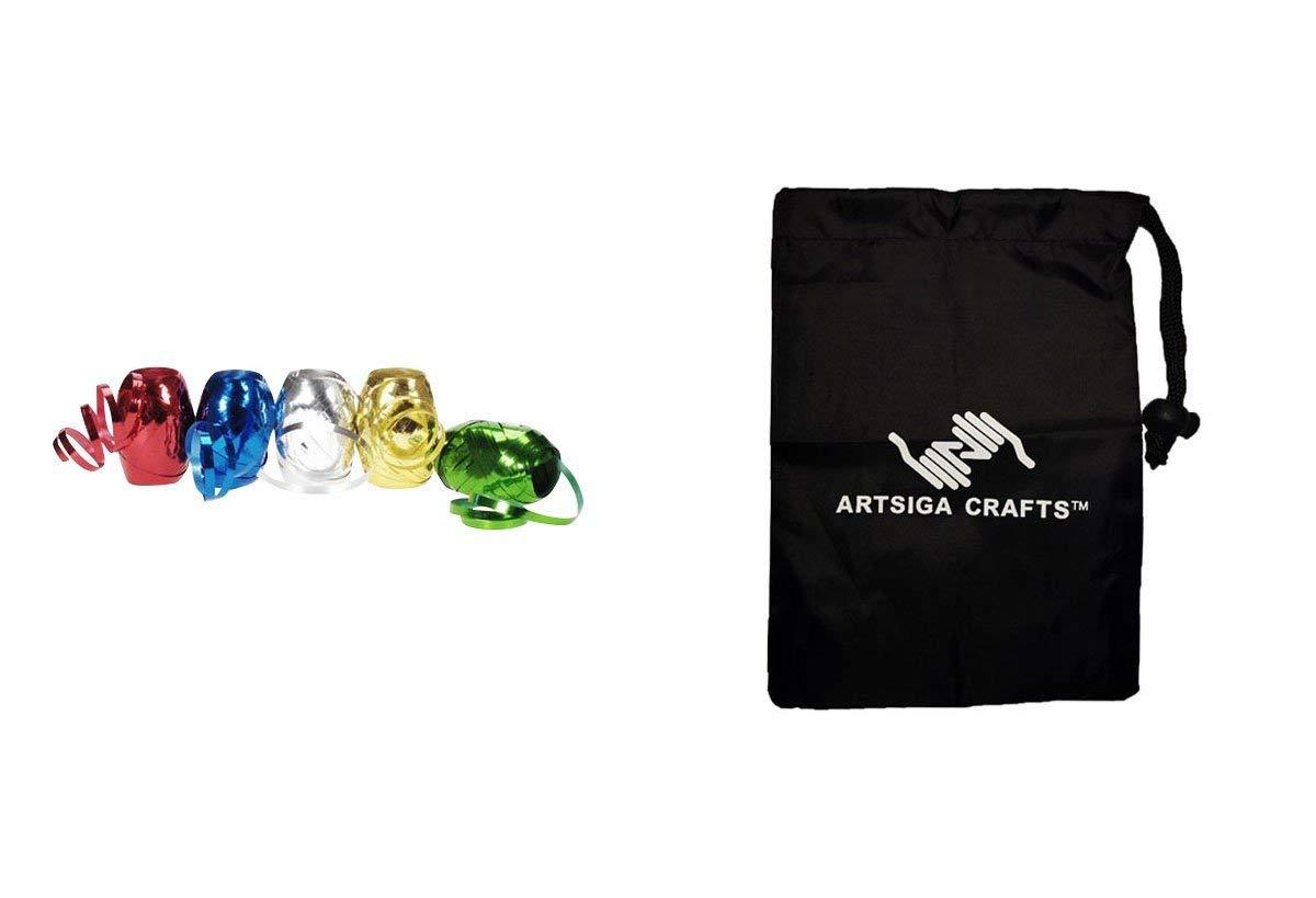 Darice Christmas Gift Wrap Curling Ribbon 5 Colors Metallic