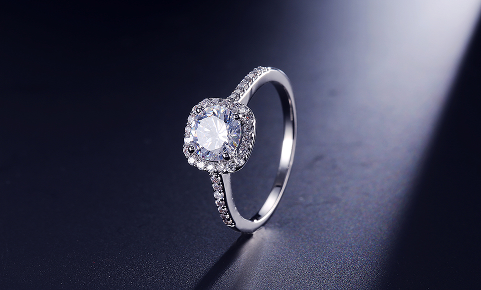 RAKOL wedding bridal jewelry unique full Inlay CZ zircon flower shape adjust copper engagement open ring R2034