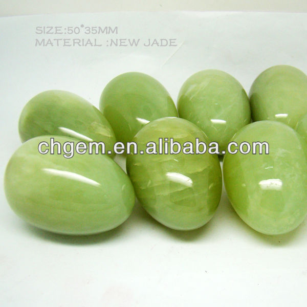 High Quality Natural gemstone New Jade Eggs 50*35mm