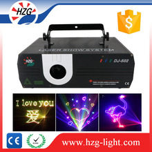 1W 2W ILDA animation programmable laser light show system for wedding stage