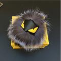 Fluffy Fox Raccoon Leather Monster Keychain Fur Balls Fur Keychain Key Ring Bag Car Charm Fur
