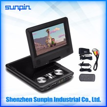 China cheap sell 7 inch portable DVD player home for kids car DVD player
