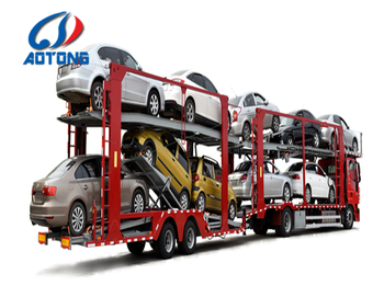 3 Axles 8 Cars Carrier Trucks Trailer Vehicle Transport Steel Chis Hauler With Hydraulic System