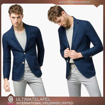 06107f868d 2015 Top Quality Mens Linen Navy Blue School Blazer - Buy School ...