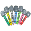 Factory Wholesale Musical Instrument Kids toy,PVC Inflatable Microphone Toys