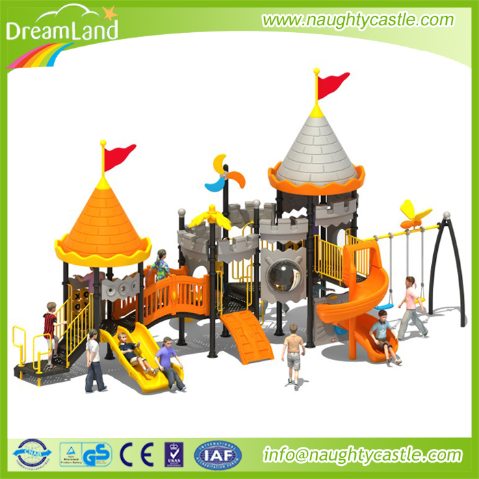 Dreamland Low-price promotional castle theme swing sets small outdoor play sets
