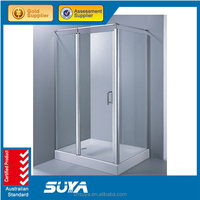 frameless sliding door glass screen shower room enclosures