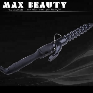 Professional LCD Ceramic Spiral Marcel Hair Curling Iron