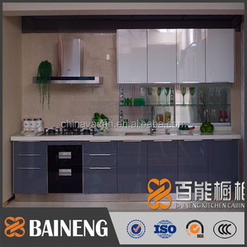 Modular Laminate Sheet Kitchen Cabinets Acrylic Veneer Indian Cabinet Style With Good Price