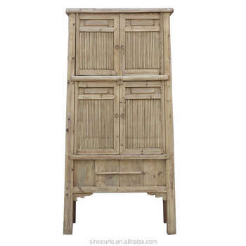 Antique Chinese Bedroom Natural Wood Armoire Bamboo Wardrobe - Buy Antique  Solid Wood Armoire Wardrobe,Reclaimed Wood Wardrobe,Chinese Antique ...