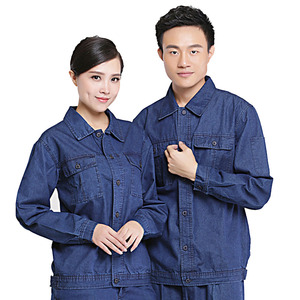 WORKWEAR Women's and Men's Denim Work Jacket and Shirt