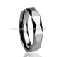 YH Tungsten Ring TRP-115 Tungsten Wedding Ring Mens Tungsten Ring Multifaced Diamond Cutting Logo and Size Custom