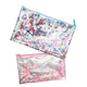 light pink stars transparent wallet clear cosmetic bag PU/PVC purse organizer bag glitter bag