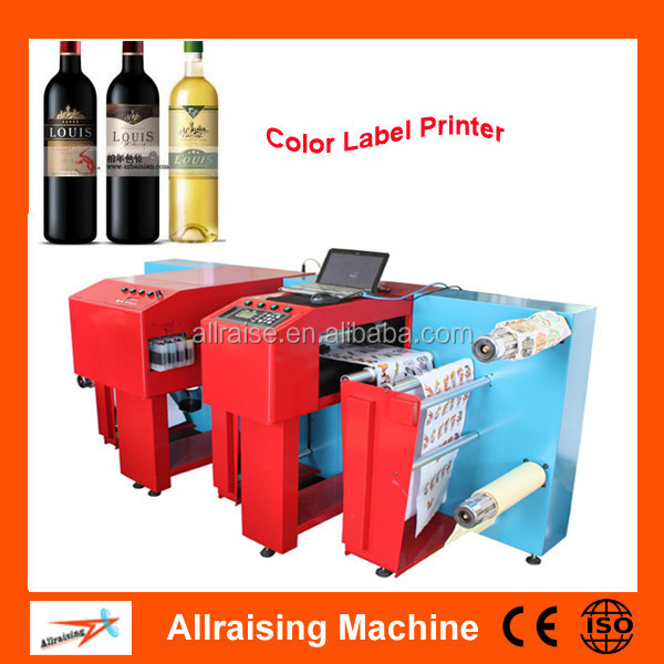 Digital Inkjet Label Printer Roll to Roll, Automatic Color Label Inkjet Printer