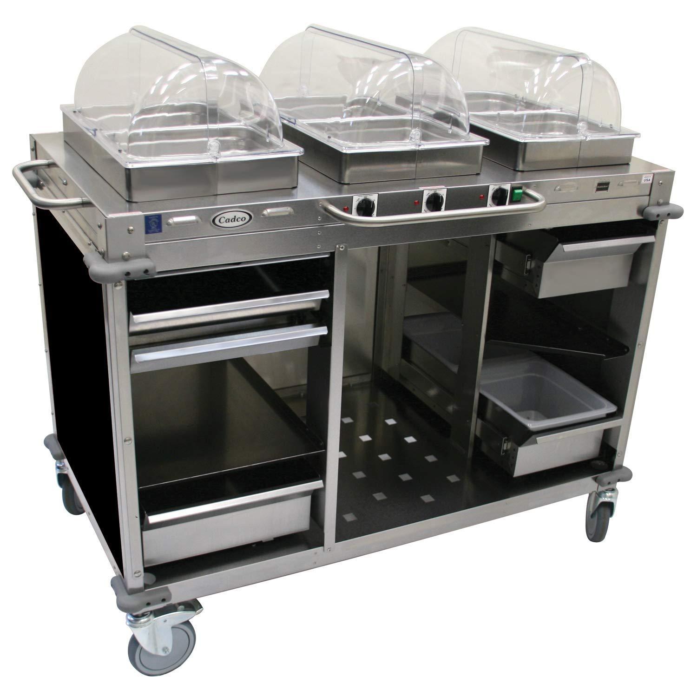"""Mobile Hot Buffet Cart Size: 49"""" H x 55.5"""" W x 28.75"""" D, Color: Black"""