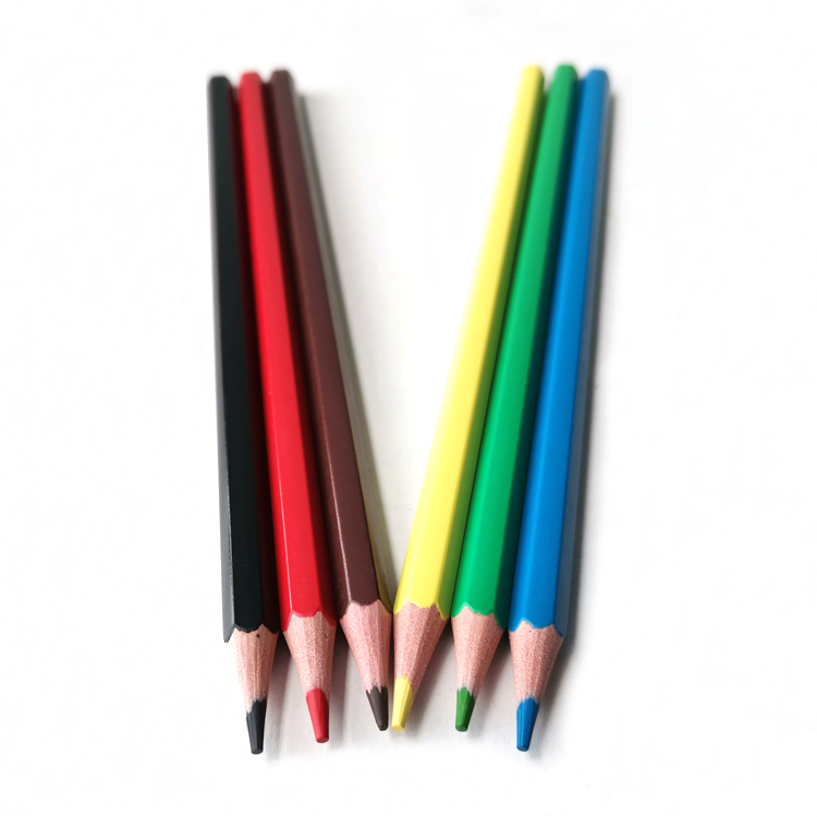 18 Years Manufacturer High Quality School Stationery Woodless 6 Color Pencil Set