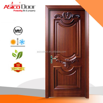 Asico wn6901 design solid wooden single main door wooden for Single main door designs