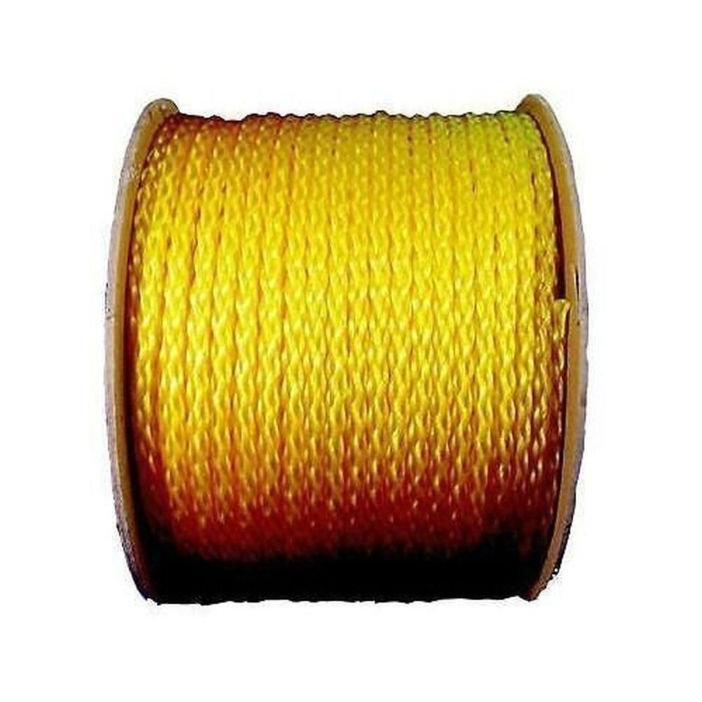 "Wellington Cordage 10859 Yellow 250' x 1/2"" Monofilament Polypropylene Rope"