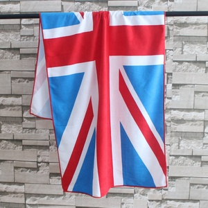 Manufacturer wholesale microfiber national flag printing luxury beach towel