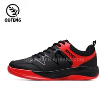 Latest design top quality black&red used lifestyle sports shoe 2017 new design casual shoes