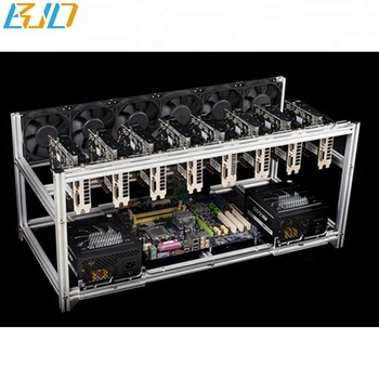 8 Gpu Open Air Mining Rig Case Chassis Aluminum Stackable