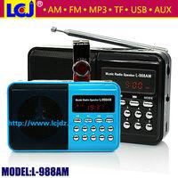 L-988AM portable am fm radio with bluetooth