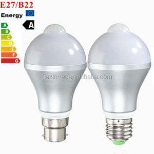 2018 new products hot sale wholesale E27 energy saving E27 7W Infrared Motion Sensor LED Light Bulb, Sensor Distance