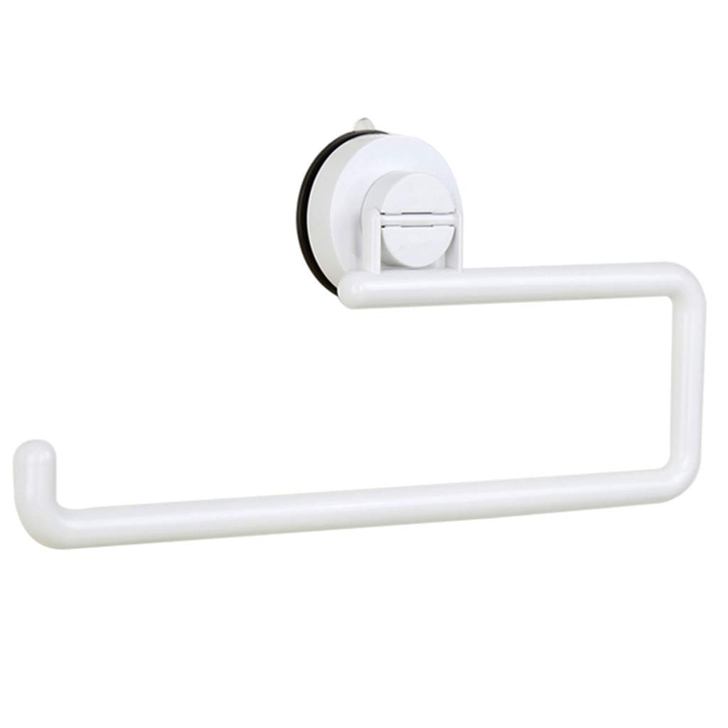 ZhaoLiRuShop Toilet Paper Holders Toilet Paper Holder Rack Space Towel Rack Bathroom Kitchen Towel Rack Kitchen Paper Refrigerator Suction Cup Toilet Paper Holder Storage Punch-Free, can Bear 2 kg