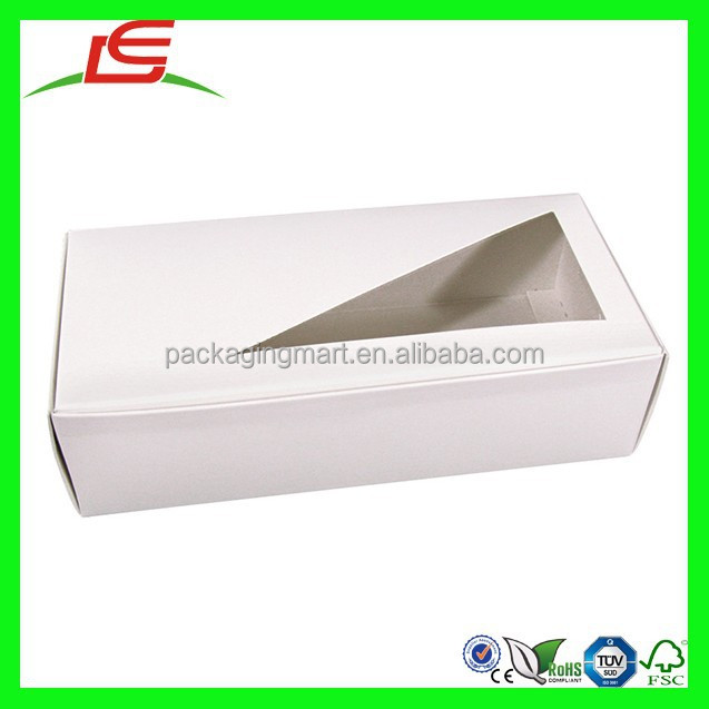 N869 Unique Different Shape White Window Candy Display Box