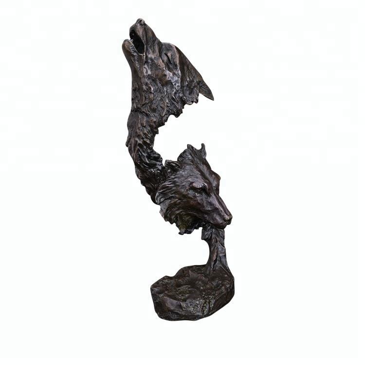ArtsHom DW-006 Bronze Cabeça Do Tigre escultura Estatueta Vida Selvagem Tigre Busto Estátua Arte Do Metal para a Decoração Home