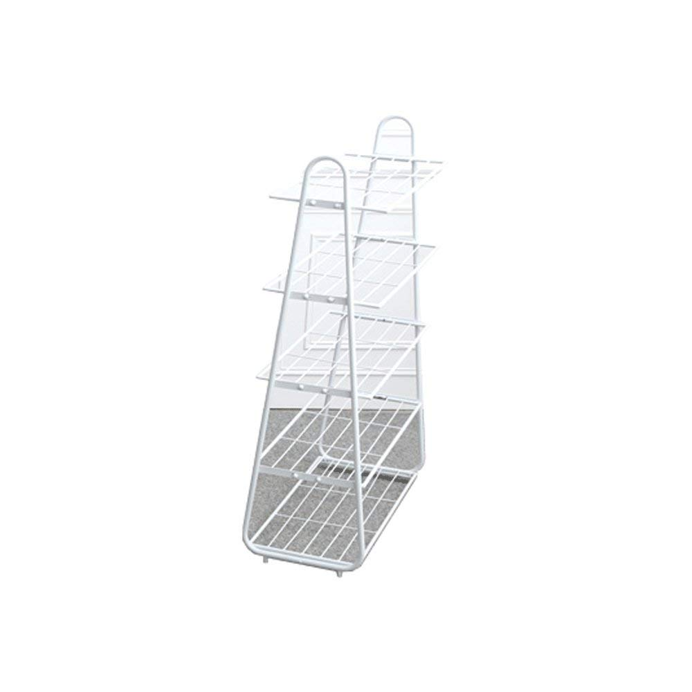 Shoe rack simple home modern economy dustproof multi-layer wrought iron space dormitory door multi-function rack (Color : White)