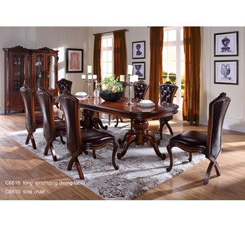 C6618 Wooden Traditional Indian Dining Table,Dining Room Furniture,Carved  Brown Antique Wooden Table With Chairs - Buy Antique Long Dining Tables And  ...