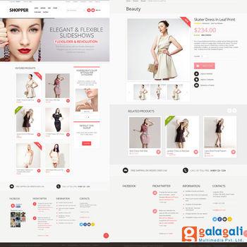 Kleding Websites.Seo Vriendelijke E Commerce Website Voor Kleding Selling Items Buy