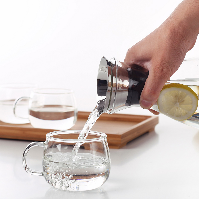 1500ml Glass Drip-free Carafe with Stainless Steel Flip-top Lid