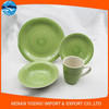 Simple Style home decoration and daily use ceramic Green dinner set