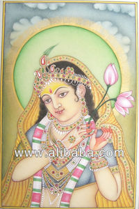 decorated indian lady in traditional style with semiprecious stone work